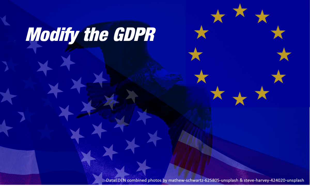 Modifying the GDPR